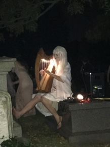 Ghoulish girl showing off her musical talent!