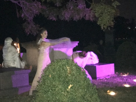 Ghostly dancers making mischief in the graveyard!